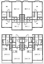 [タウンハウス] 静岡県浜松市西区大平台4丁目 の賃貸【/】の間取り