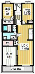 ミナミスクウェア[1階]の間取り