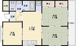 マンショングランディー[4階]の間取り