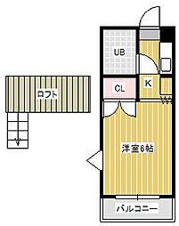 シャルムII[2階]の間取り