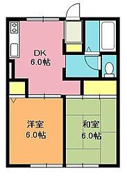 須藤ハイツ[2階]の間取り