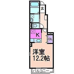 サンディーア C棟[1階]の間取り