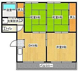 延平コーポ[3階]の間取り