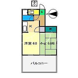 第一大黒マンション[1階]の間取り