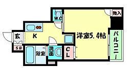 ザ・レジデンス心斎橋[2階]の間取り