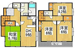 [一戸建] 東京都清瀬市松山3丁目 の賃貸【東京都 / 清瀬市】の間取り