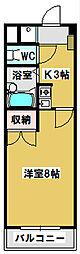 三重県鈴鹿市東玉垣町の賃貸マンションの間取り