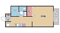 兵庫県神戸市中央区山本通4丁目の賃貸アパートの間取り