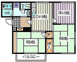 埼玉県さいたま市桜区田島5丁目の賃貸アパートの間取り