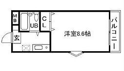 メイプルハイムPart1[3階]の間取り