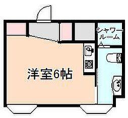 大阪府豊中市末広町3丁目の賃貸マンションの間取り