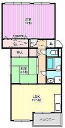 守口東ピラミッドマンション[4階]の間取り