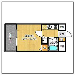 ピュアドームリアラ大濠[2階]の間取り