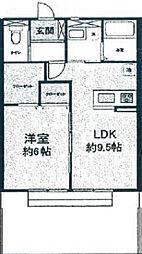 大阪府岸和田市岸城町の賃貸アパートの間取り