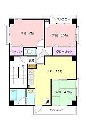 第1興陽ビル[3階]の間取り
