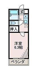 サンアベニュー町田[2階]の間取り