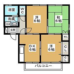 セジュールINOU[2階]の間取り