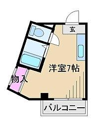 東京都足立区新田1丁目の賃貸マンションの間取り