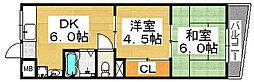 第一三国ヶ丘コーポ[2階]の間取り