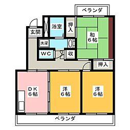 コーポ稲垣C[1階]の間取り