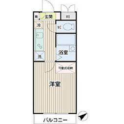 神奈川県横浜市鶴見区矢向4丁目の賃貸マンションの間取り