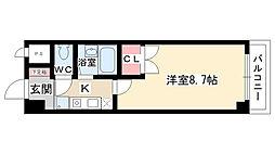愛知県名古屋市名東区社台1丁目の賃貸マンションの間取り