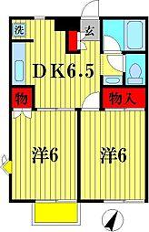 グランドゥール八柱[B201号室]の間取り