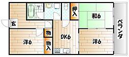 F・Kコーポ[4階]の間取り