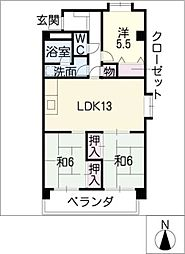 マンション コスモス[3階]の間取り