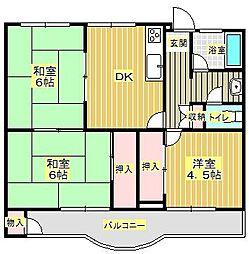 第2澤田マンション[4階]の間取り
