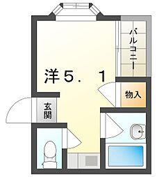 メゾンAKINAI千林 3階1Kの間取り