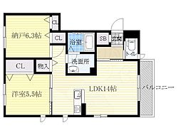 北大阪急行電鉄 千里中央駅 バス9分 市立病院前下車 徒歩5分の賃貸アパート 1階1SLDKの間取り