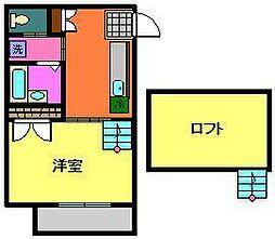 小川コーポ2[1階]の間取り