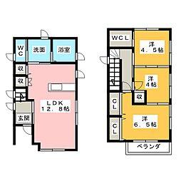 仮)南外山新築戸建 2階3LDKの間取り