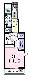 宮城県仙台市太白区柳生字上河原の賃貸アパートの間取り