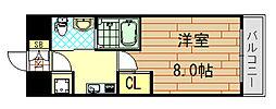 ディナスティ東大阪センターフィールフド[801号室]の間取り