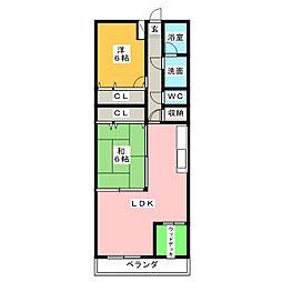 香月マンション[6階]の間取り