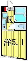 KKハウス金町[1階]の間取り