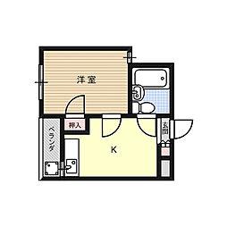 フレディハイツ京口パート1[2階]の間取り