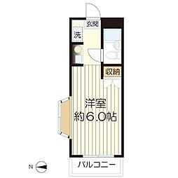 スカイコート生田-207[207号室]の間取り