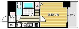 プレサンス難波幸町[2階]の間取り