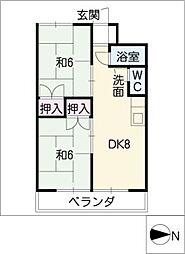 清風マンション[4階]の間取り