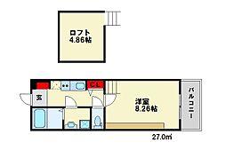 ORANGE(オランジュ)[2階]の間取り