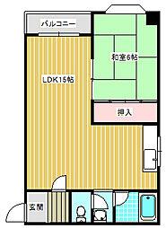メゾンドサンテ[305号室]の間取り