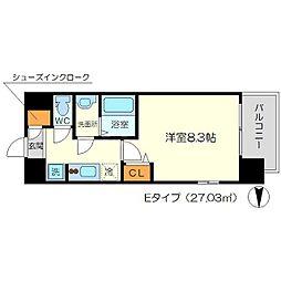 リッツ新大阪[11階]の間取り