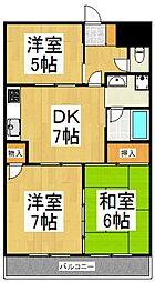 レグルスマンション[5階]の間取り