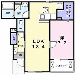 プロムナードメゾン弐番館 D[1階]の間取り