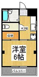 サンビュ・志木[3階]の間取り