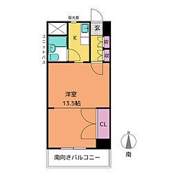 愛知県名古屋市熱田区金山町1の賃貸マンションの間取り