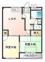 ナンカイ5[1階]の間取り